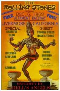 Posterul concertului de la Altamont