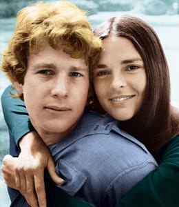 Ali MacGraw si Ryan O'Neal (Love Story, 1970)